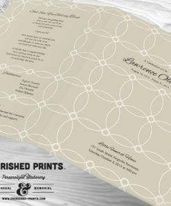 Circles Funeral Program