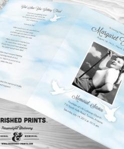 Heavenly Clouds Funeral Program