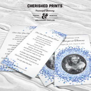 Prayer Cards, Funeral Cards, Memorial Cards, and Tribute Cards