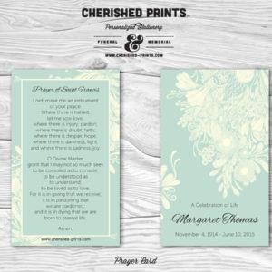 Chrysanthemum Prayer Card