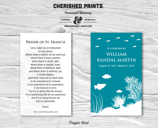 Coral Reef Prayer Card