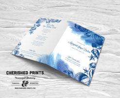 Seashells Funeral Program