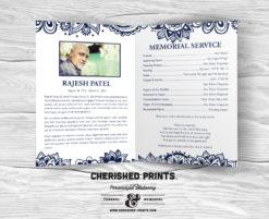 Indian Block Print Funeral Program