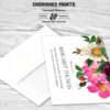 Spring Flowers Thank You Card