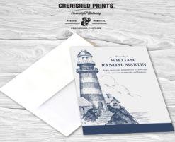 Lighthouse thank you card