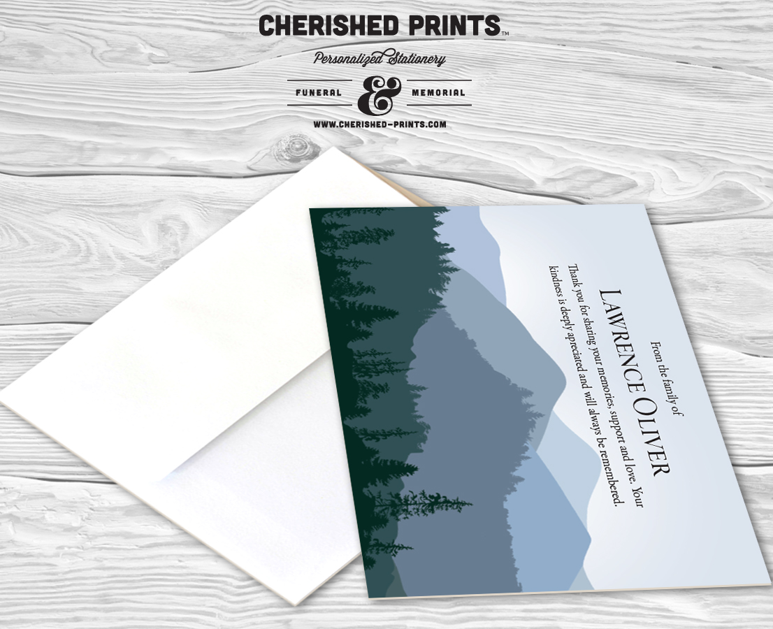 mountains majesty thank you card