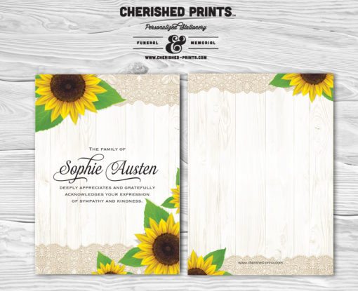 Sunflowers Thank You Card