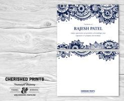Indian Block Print Thank You Card
