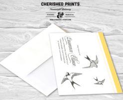 Sparrows Thank You Card