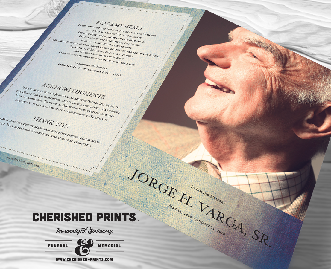 Modern Watercolor Texture Funeral Program