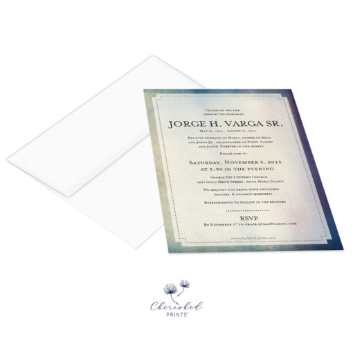 Modern-Watercolor-Texture-Invitation-front with envelope