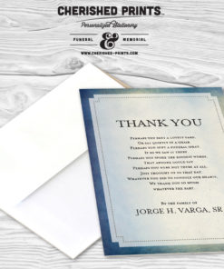 Modern Watercolor Texture Thank You Card