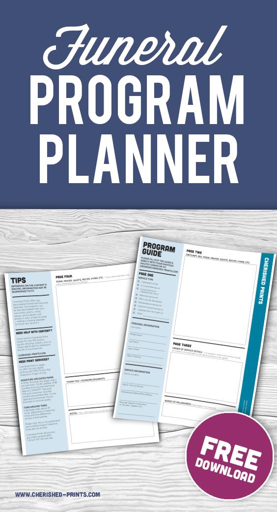 Cherished Prints Funeral Program Guide Free Download