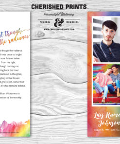 Orlando Strong LBGTQ Rainbow Funeral Bookmark