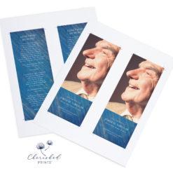 Blue Striped Bookmark Print Ready PDF