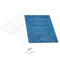 Modern Blue Striped Invitation with envelope