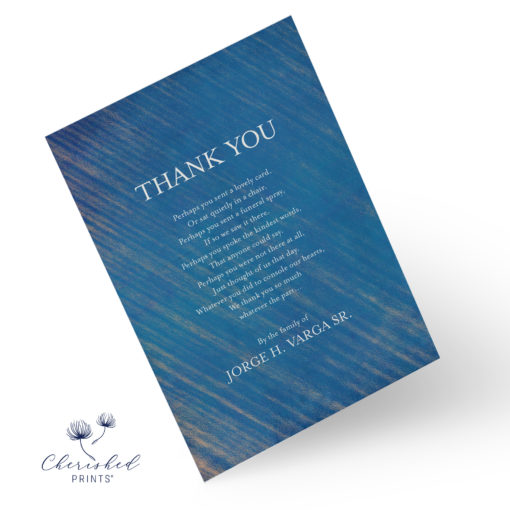 Blue Striped Thank You Front