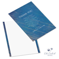 Blue Striped Thank You Font and Back
