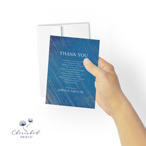 Blue Striped Thank You with Envelope