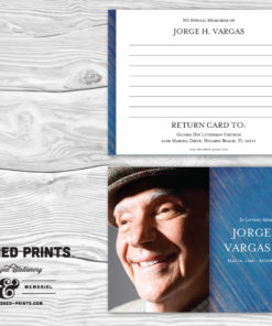 Modern Blue Stripped Texture Memorial Funeral Memory Notecards