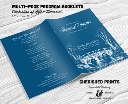 Bridge Funeral Program Booklet