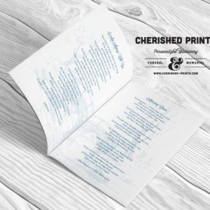 Bridge Funeral Program Booklet