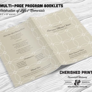 Interlocking Circles Multi-Page Funeral Program Booklet
