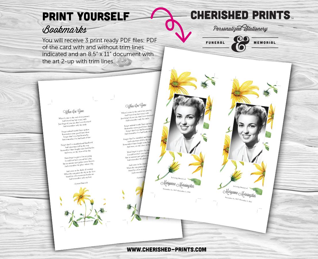 Daisies Bookmark 2up Print Ready PDF