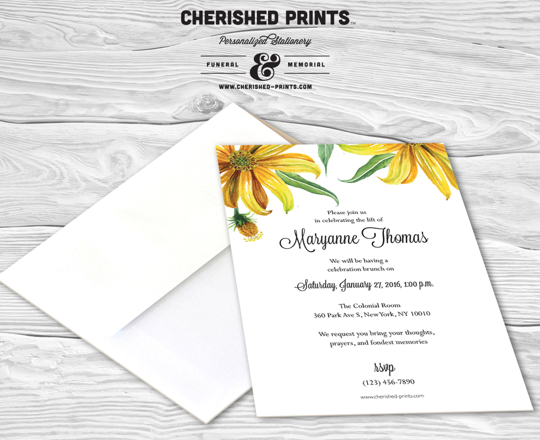 daisies celebration of life invitations and announcements