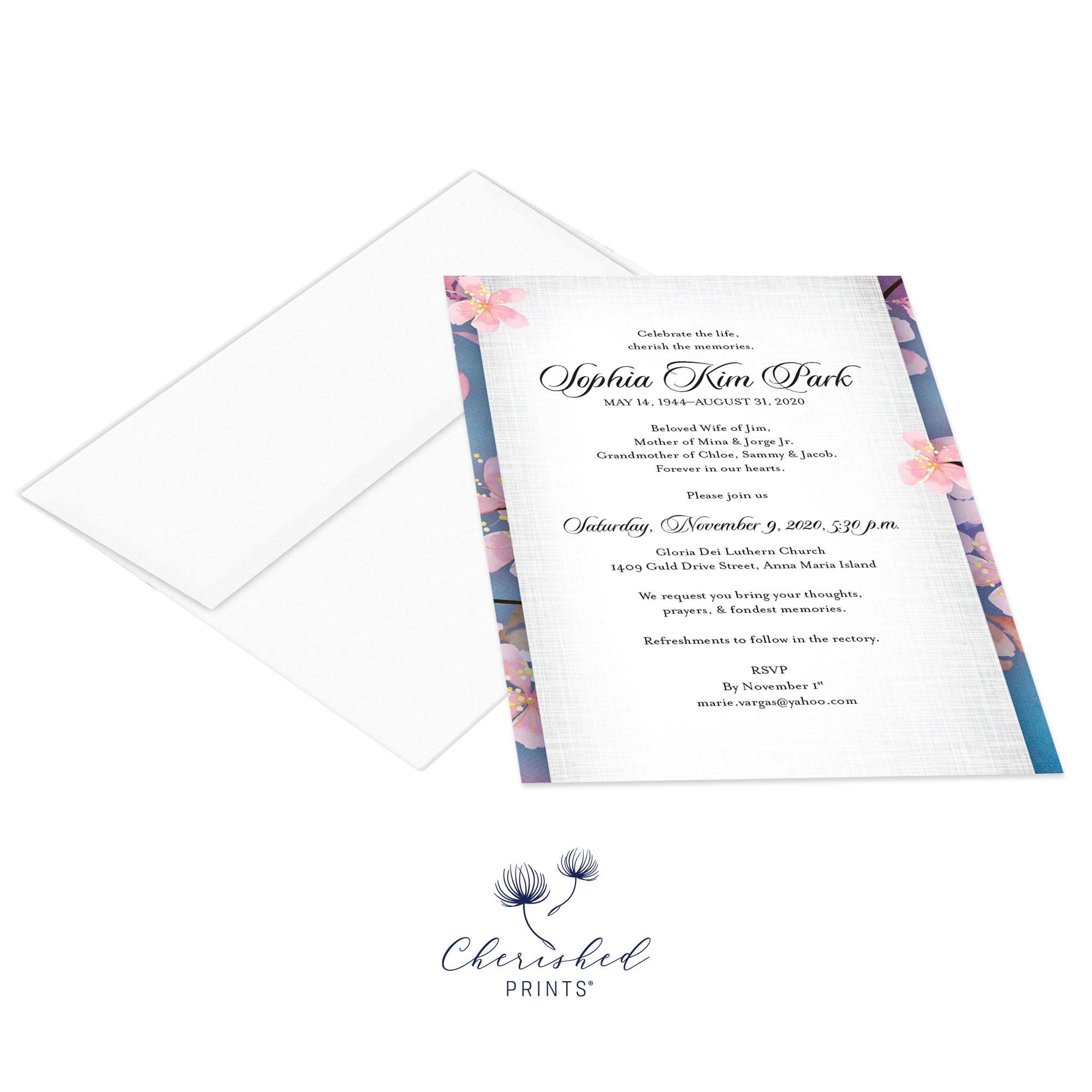 Cherry Blossom Sakura Invitation