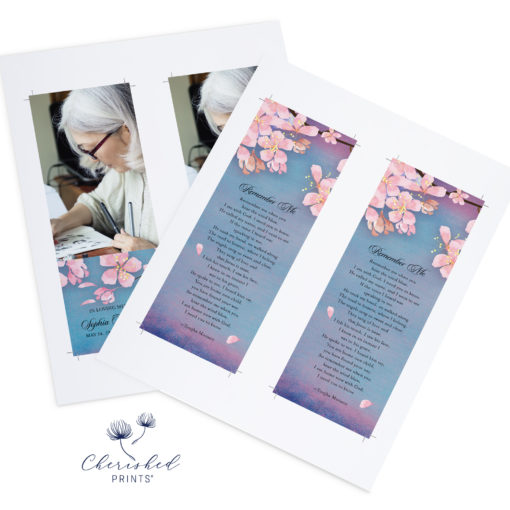 Sakura Cherry Blossom Bookmarks 2up PDF