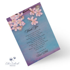 Sakura Cherry Blossom Thank You Note Card Front