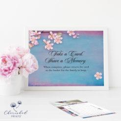Cherry Blossom Sakura Share a Memory Card Sign