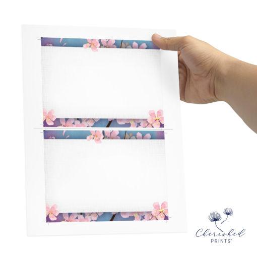 Sakura Cherry Blossom Thank You Note Card