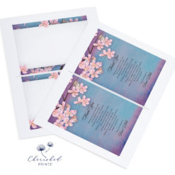 Sakura Cherry Blossom Thank You Note Card 2up PDF