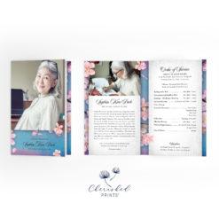 Cherry Blossom Sakura Funeral Program