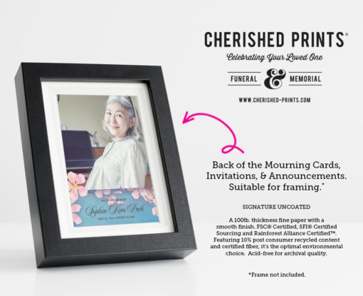 Pink and blue Cherry Blossom Invitation