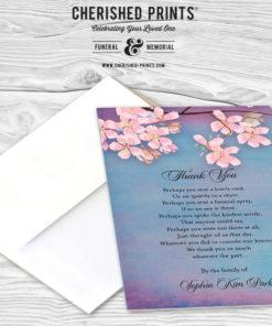 Sakura Acknowledgement Card