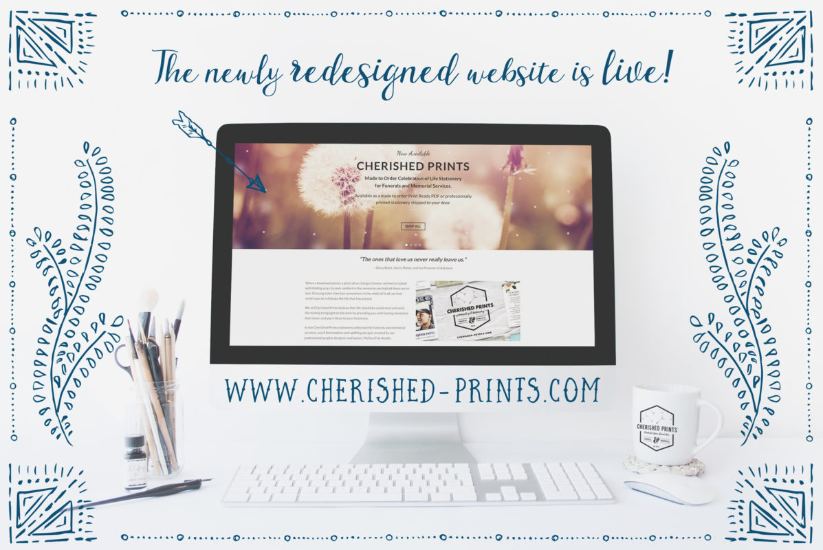 Cherished Prints website redesign announcement