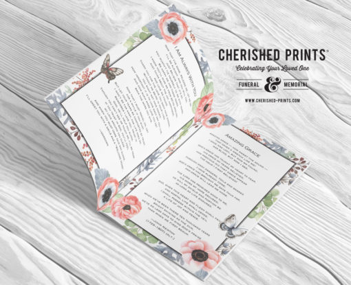 Anemones Butterfly-Multipage-program-booklet-pages