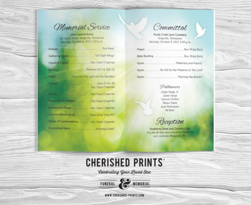 Morning Light Greenery-Program-Booklet-Order-of-Service