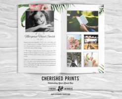 Tropical Flowers-Program-Booklet-Inside-Cover-Obituary-Collage