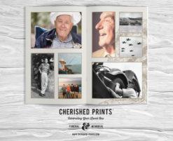 Oak Tree Celebration of Life Program Booklet Obituary Photo Collage