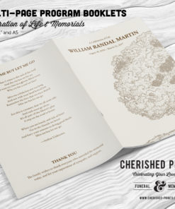 Oak Tree Celebration of Life Program Booklet Obituary Front-Cover-Back-Cover