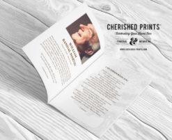 Oak Tree Celebration of Life Program Booklet Obituary
