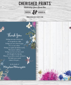 Blue Summer Wildflowers Acknowledgment Cards
