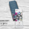 Wildflowers Bookmark Celebration of Life Bookmarks for Funerals and Memorial Service