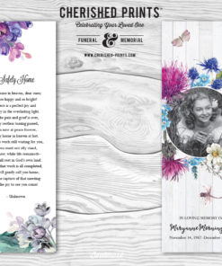 Lilacs Bookmark Celebration of Life Bookmarks for Funerals and Memorial Service