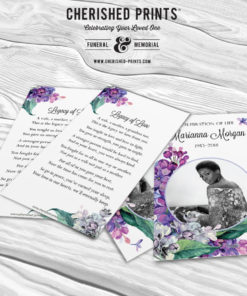 Lilacs Prayer Cards, Mass Cards, Funeral Cards, Memorial Cards