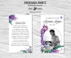 Lilacs Prayer Cards, Mass Cards, Funeral Cards, Memorial Cards